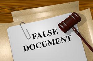 Falsifying accounts