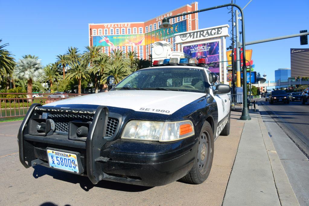 arrest in Las Vegas, Nevada
